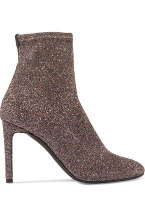 GIUSEPPE ZANOTTI Celeste glittered stretch-knit sock boots
