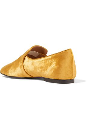 THE ROW Velvet slippers