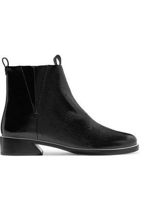 MERCEDES CASTILLO Xandra patent textured-leather ankle boots