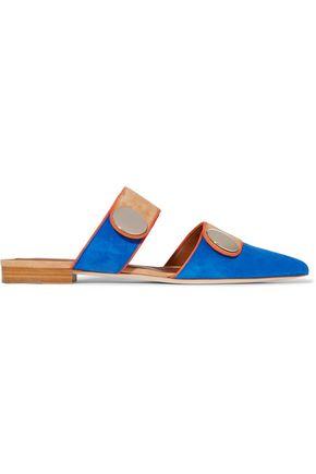 MALONE SOULIERS + Roksanda Lee color-block suede slippers