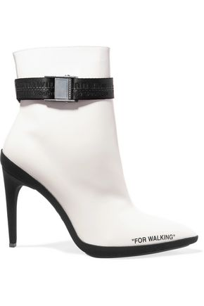 OFF-WHITE™ For Walking printed leather ankle boots