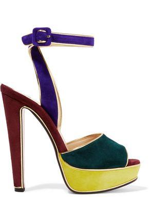 944fadb7c63 CHRISTIAN LOUBOUTIN Louloudance 140 color-block suede platform sandals ...