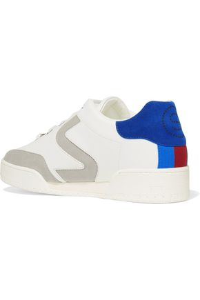 STELLA McCARTNEY Faux suede-trimmed faux leather sneakers