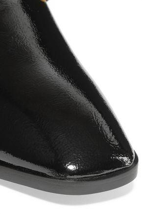 STELLA McCARTNEY Embellished faux glossed-leather mules