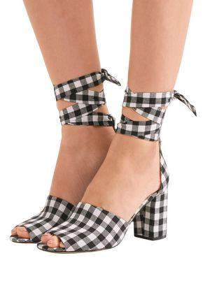SAM EDELMAN Odele gingham canvas sandals