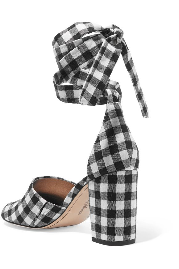 e1fab3d9c65ad Odele gingham canvas sandals