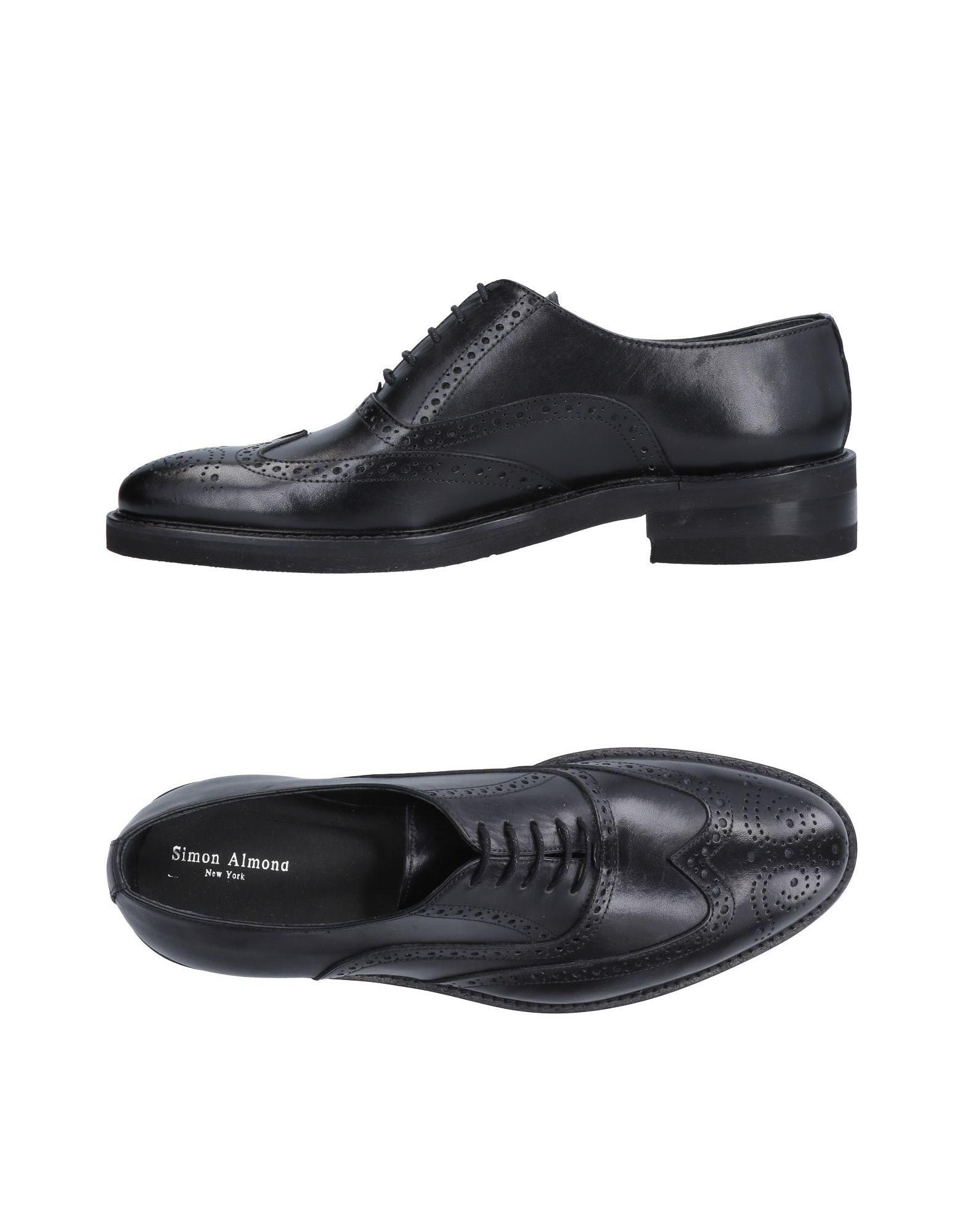 SIMON ALMOND New York Обувь на шнурках almond toe velvet panel ankle boots