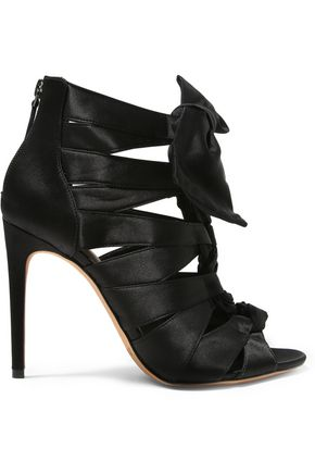 ALEXANDRE BIRMAN Layla knotted satin sandals