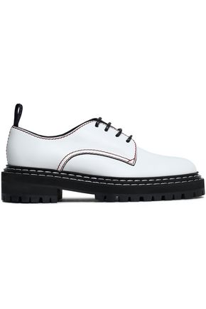 WOMAN LEATHER BROGUES WHITE