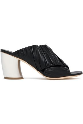PROENZA SCHOULER Ruched leather mules