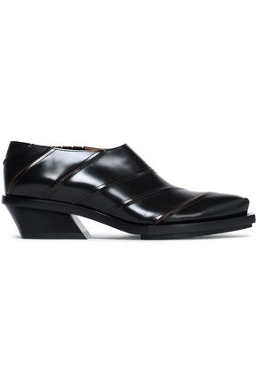 PROENZA SCHOULER Sliced glossed-leather brogues
