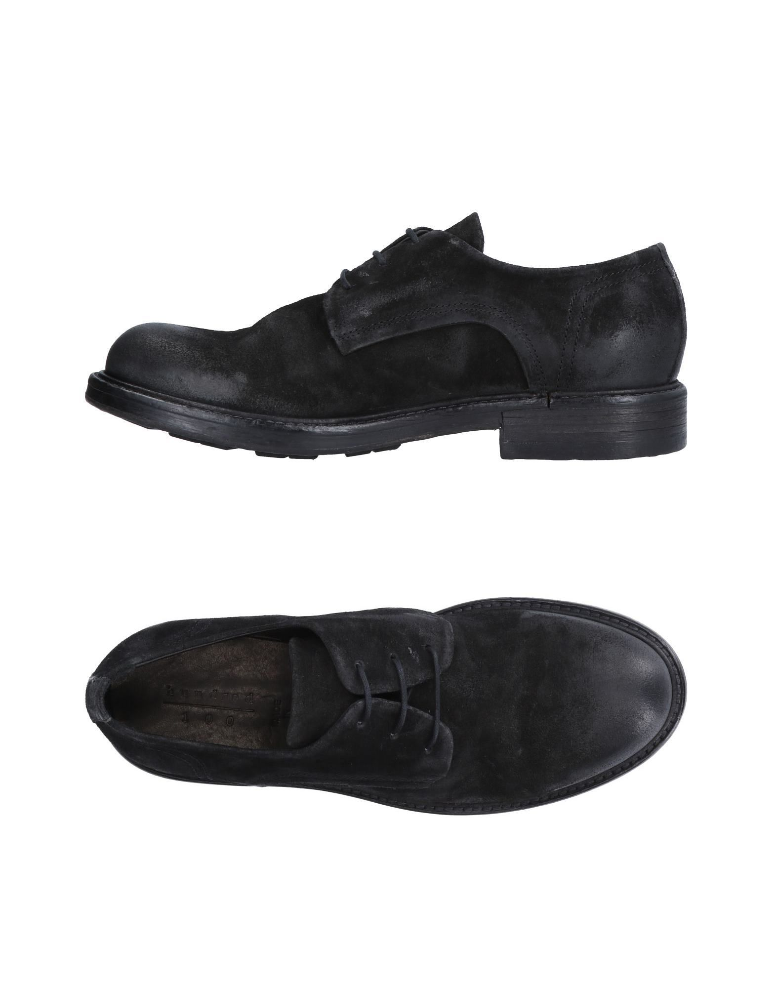 HUNDRED 100 Laced Shoes in Black