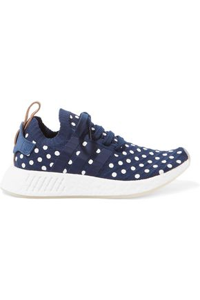 ADIDAS ORIGINALS Polka-dot stretch-knit sneakers