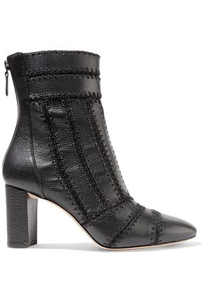 ALEXANDRE BIRMAN Beatrice whipstitched textured-leather ankle boots