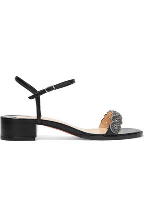 c3432daae180 CHRISTIAN LOUBOUTIN Grekoronda 25 chain-embellished stingray and leather  sandals