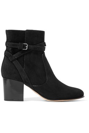 JIMMY CHOO Buckled suede ankle boots