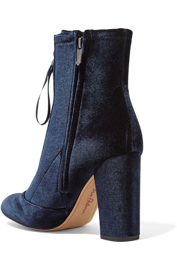 ef510d08b Clementine lace-up velvet ankle boots