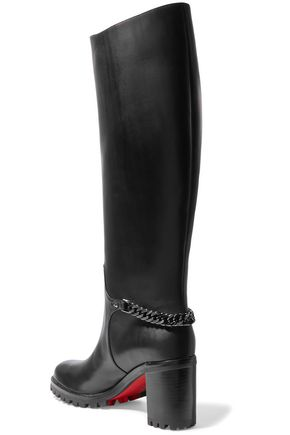 454faa31781 Napeleo 70 chain-trimmed leather knee boots | CHRISTIAN LOUBOUTIN ...