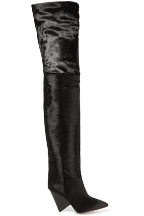 ISABEL MARANT Calf hair thigh boots