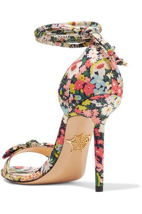 42309d6ee01c4 ... CHARLOTTE OLYMPIA Shelley bow-embellished printed cotton sandals