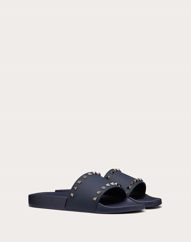 Navy PVC Rockstud Pool Slide