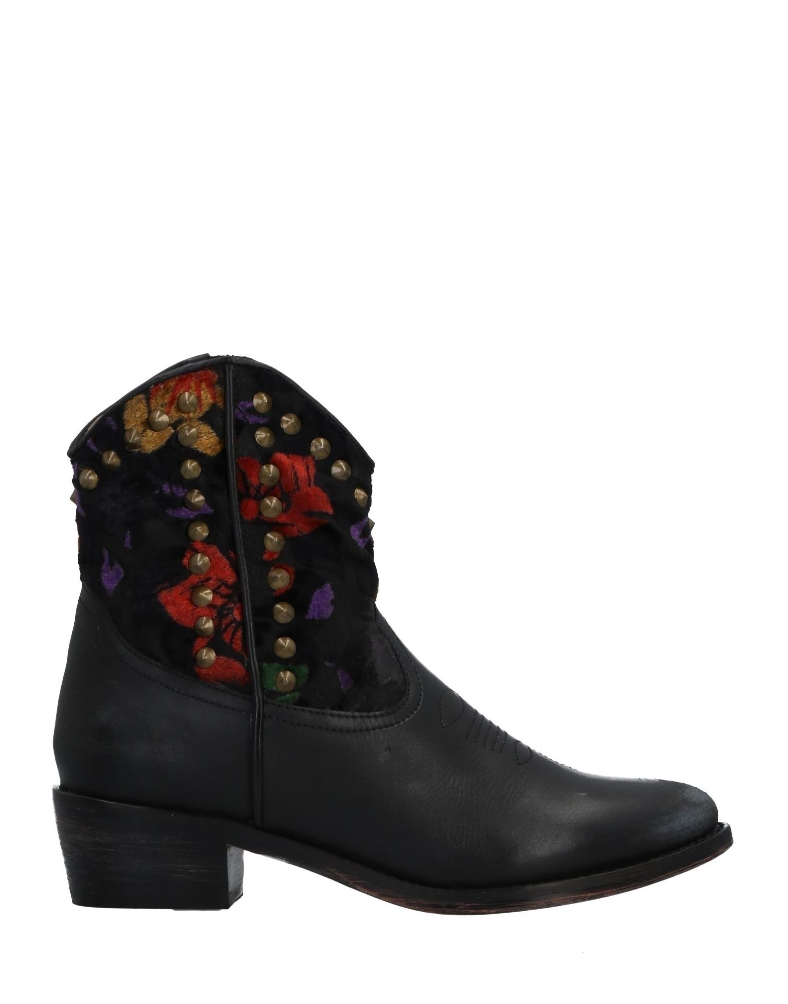 《セール開催中》BAGATT レディース ショートブーツ ブラック 36 革 紡績繊維