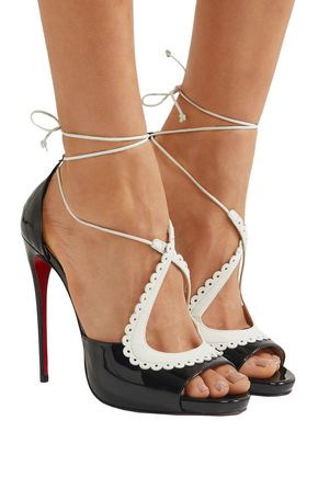 CHRISTIAN LOUBOUTIN Operissima 120 smooth and patent-leather sandals