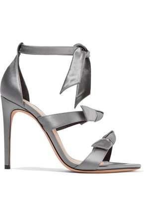 ALEXANDRE BIRMAN Knotted satin sandals