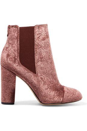 SAM EDELMAN Case embossed velvet ankle boots