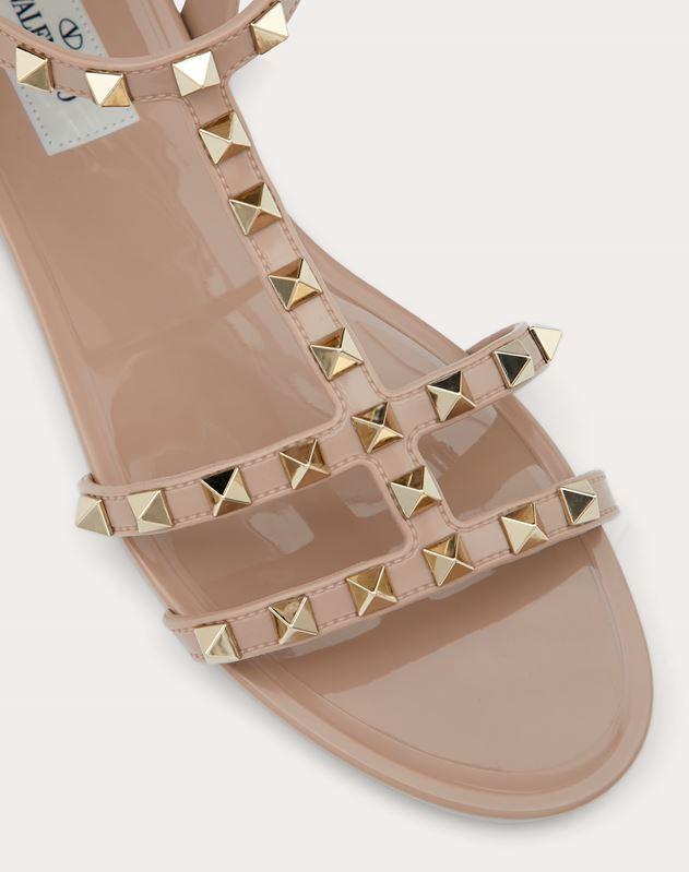 Flache Sandalen Rockstud aus Gummi