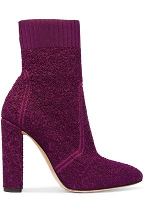GIANVITO ROSSI Isa bouclé-knit sock boots