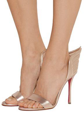 CHRISTIAN LOUBOUTIN Samotresse 100 metallic leather sandals
