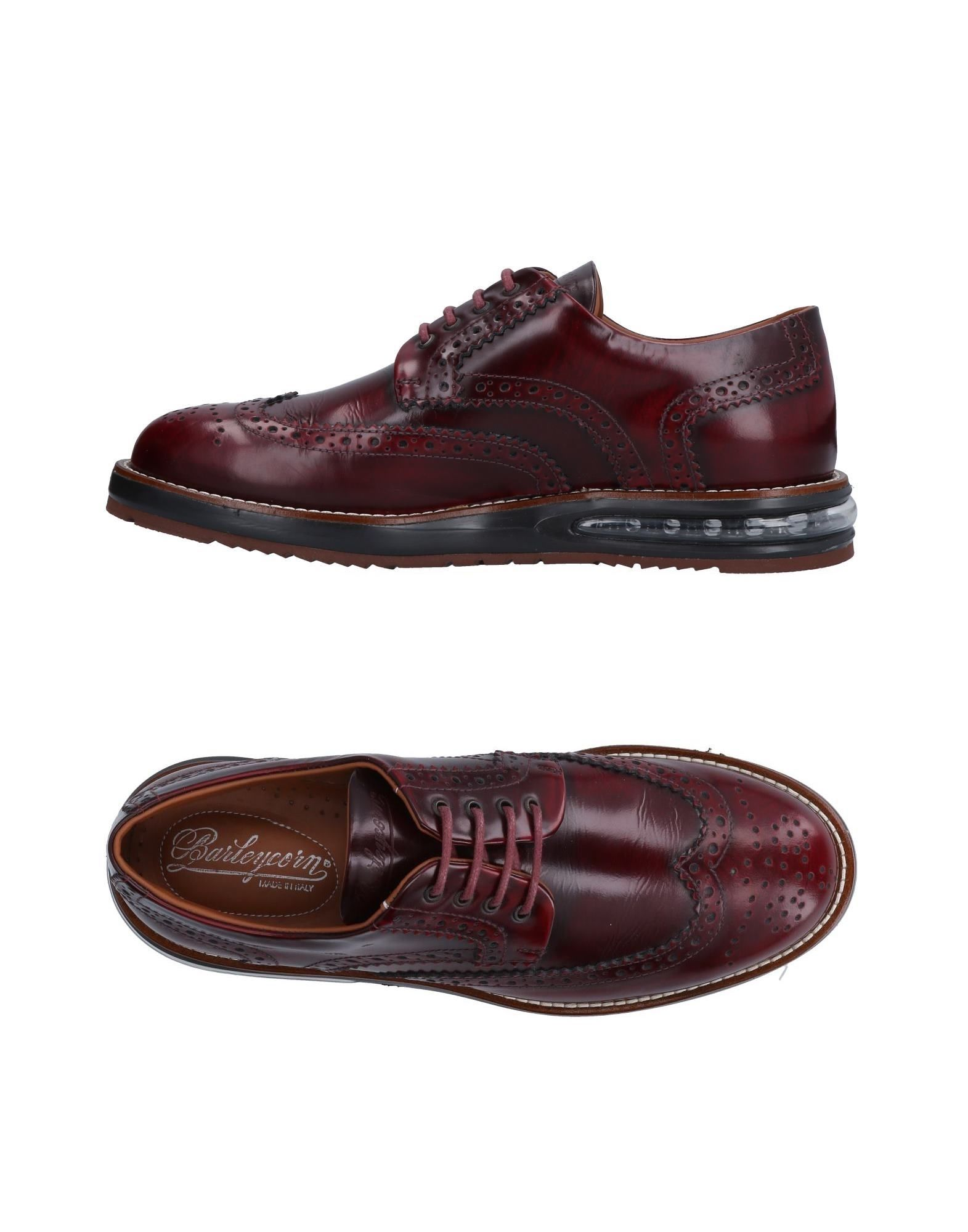 BARLEYCORN Laced Shoes in Brick Red