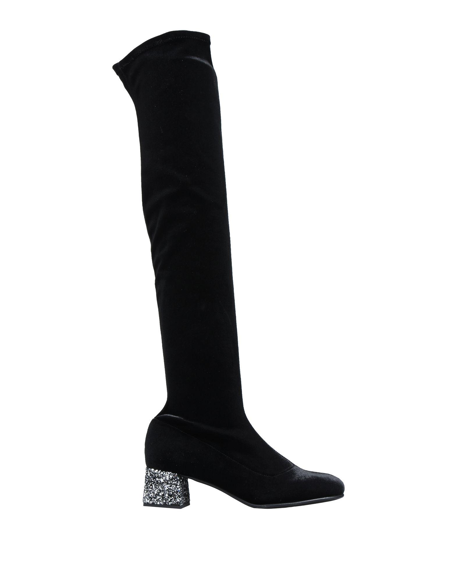 《送料無料》PAOLO SIMONINI レディース ブーツ ブラック 35 紡績繊維