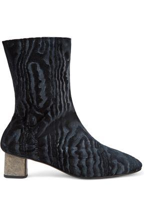 ROBERT CLERGERIE Plopt devoré-satin ankle boots