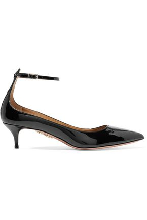 AQUAZZURA Kisha patent-leather pumps