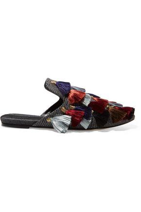 SANAYI 313 Eloise tasseled tweed slippers