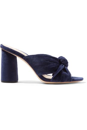 51e30d5b2a8 Coco knotted velvet mules | LOEFFLER RANDALL | Sale up to 70% off ...