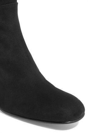 STUART WEITZMAN Halftime suede and stretch-crepe over-the-knee boots