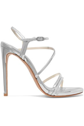 STUART WEITZMAN Follie metallic leather sandals