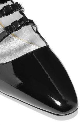 ALEXACHUNG Bow-embellished patent-leather pumps