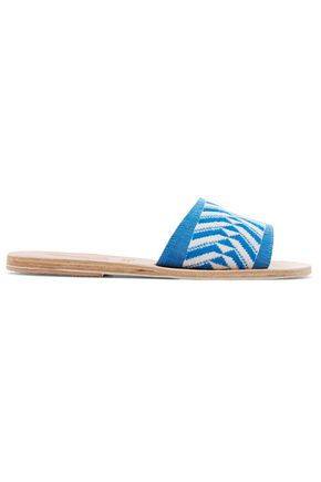 ANCIENT GREEK SANDALS Color-block leather slides