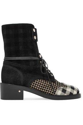 LAURENCE DACADE Flocked suede boots