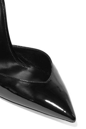 SAINT LAURENT Anja tasseled patent-leather pumps