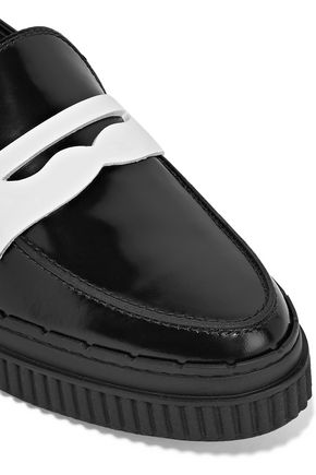 TOD'S Two-tone patent-leather loafers