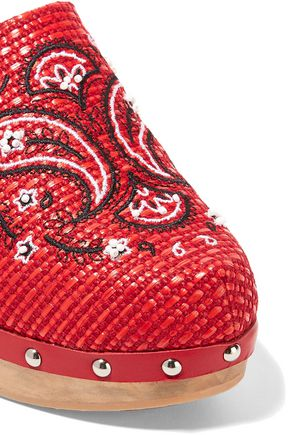MR by MAN REPELLER Embroidered woven clogs