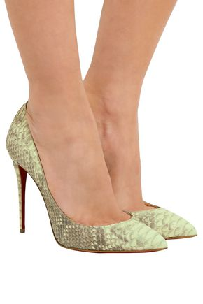 CHRISTIAN LOUBOUTIN Pigalle Follies 100 python pumps