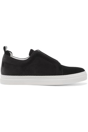 PIERRE HARDY Slider velvet slip-on sneakers