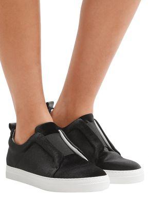 PIERRE HARDY Slider velvet slip-on sneakers