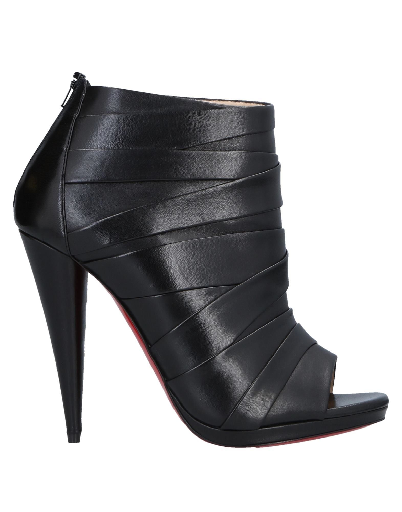 CHRISTIAN LOUBOUTIN Полусапоги и высокие ботинки christian louboutin черные замшевые ботинки samson flat crosta